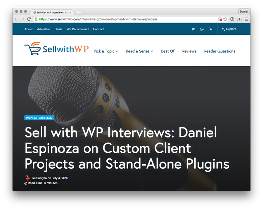 Sell With WP Interview