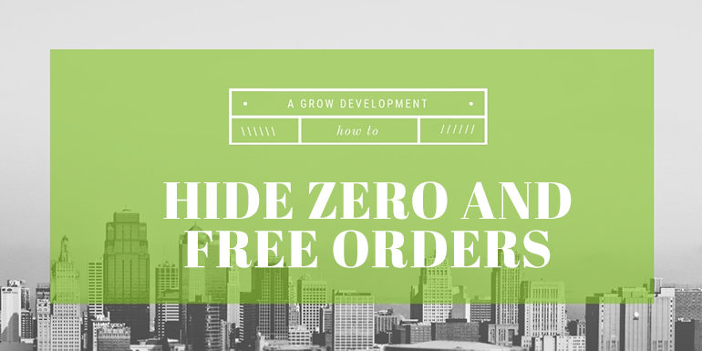 How To Hide Zero or Free Orders WooCommerce